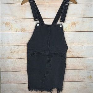 Free People Overall Dress Skirt 6 Black